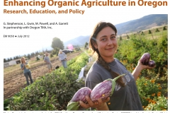 Enhancing Organic Agriculture in Oregon - Research, Education, and Policy
